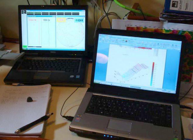 Control de prospección magnetometrica y procesado a bordo. (Alejandro Tassone)