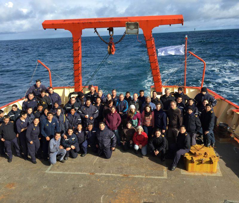 Campaña Oceanográfica Buque Puerto Deseado 2016. Fuente: Alberto Piola.