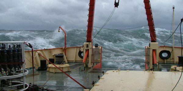 Tormenta en el mar. Fuente: Alberto Piola.