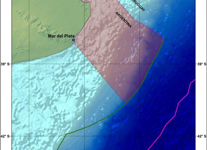 Mapa Frente marino del Río de la Plata