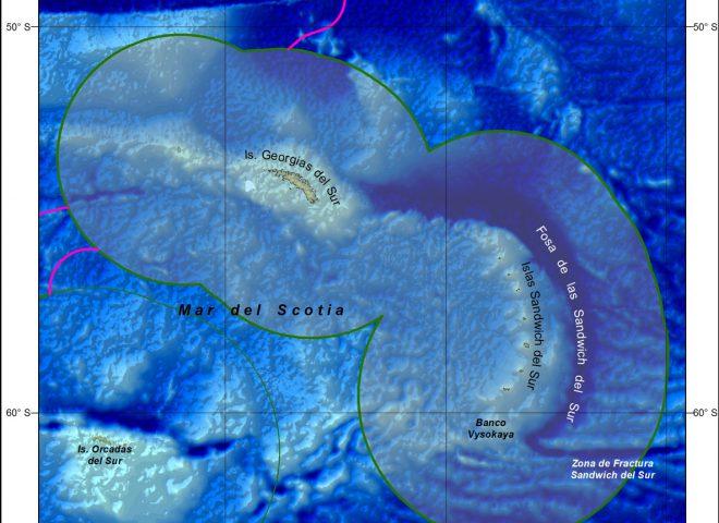 Mapa Islas Subantárticas