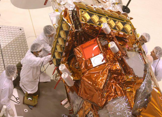 Satelite Argentino SAC-D Aquarius – 14 de mayo 2010. Fuente: CONAE