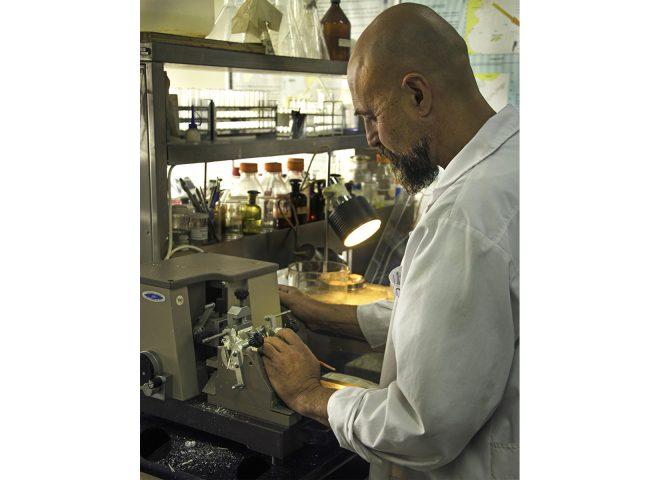 Histología Micrótomo. Gentileza INIDEP