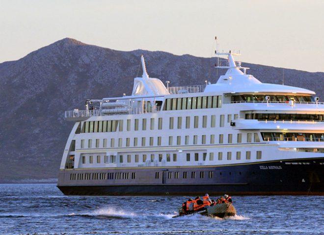 Crucero Australis en Ushuaia.