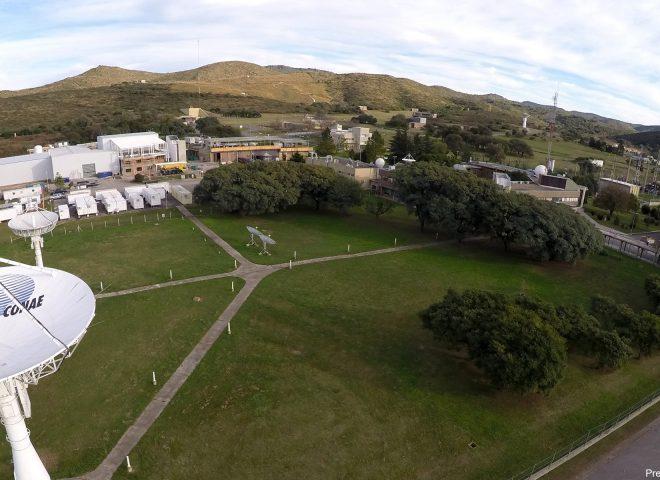 Frente del Centro Espacial Teófilo Tabanera – CONAE.