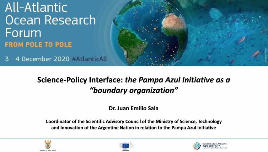 Participación argentina en el Foro de Investigación de todo el Océano Atlántico
